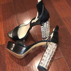 Michael Kors crystal shinning high heels